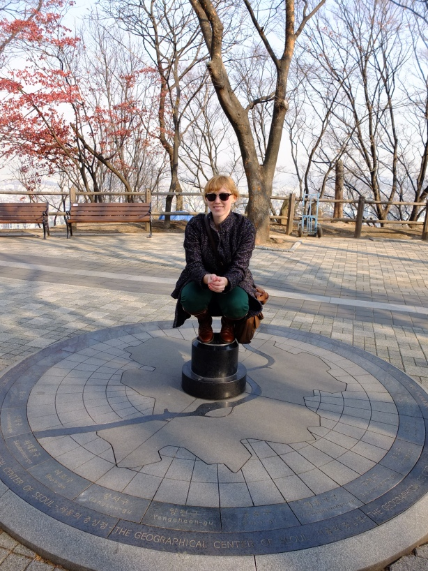 Me at the geographic center of Seoul