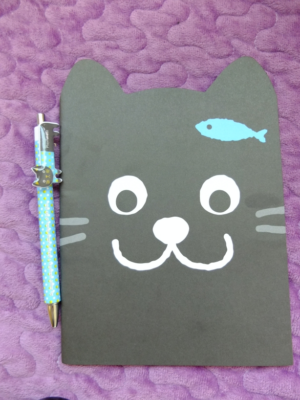 kitty book and pen