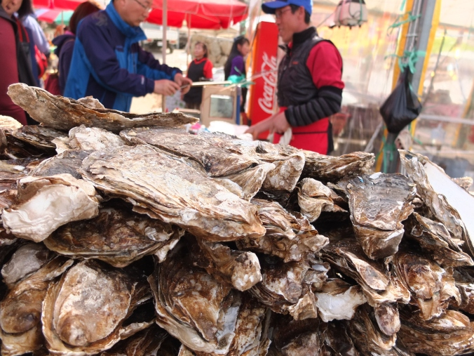 The Seomjin River is known for being some of the cleanest water in Seoul and is famous for these fresh-water oysters.