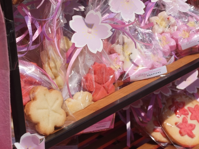 Cute cherry blossom shaped treats!